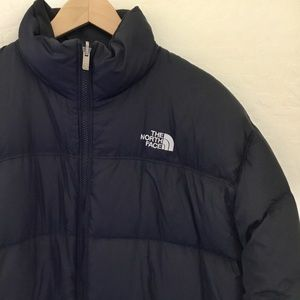 Men's North Face down puffer jacket black size XL